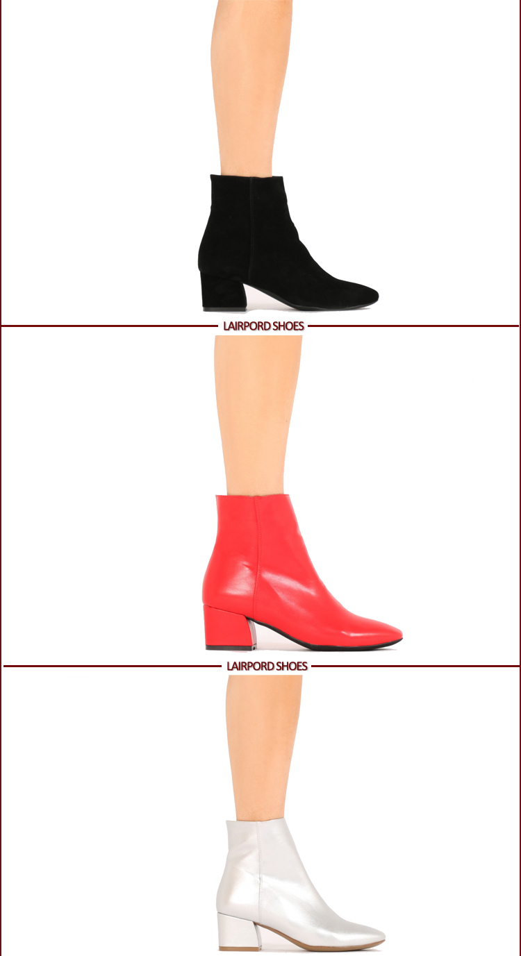 ladies ankle cheap winter PU leather boots