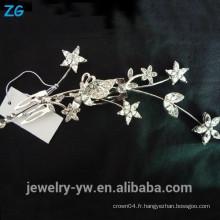 Fashion star nuptiale peigne accessoires cheveux cheveux en métal plaqué peintures en métal