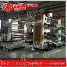 Machine d'impression flexographique large avec inspection vidéo