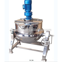 electric/steam heating jacketed kettle, stainless steel jacketed cooking kettle