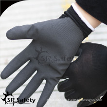 SRSAFTY seamless knitted liner colored nitrile gloves/Nitrile Working Glove/firm grip glove