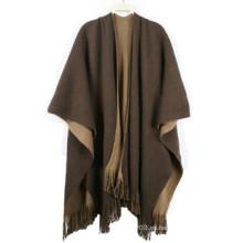 El resorte de las mujeres de la manera hizo punto pashmina de la bufanda