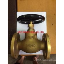 Valve Globe en laiton Bonnet à vis