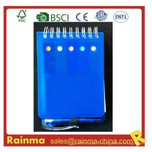 Mini PVC Cover Notizbuch mit Mini Kugelschreiber