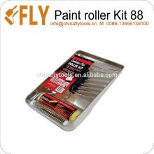 Kit de rolo de pintura resistente de 3 peças