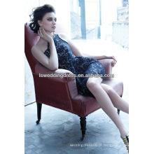 HC2147 Laço graciosamente elegante apliqued calcinha oblíqua ombro pescoço apertado curto mini um ombro vestido de noiva sexy vestido de noiva