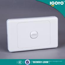Botón redondo de material de PC Interruptor de luz de Australia