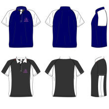 Man Cotton Embroidery Printing Sublimation Polo Shirts With Customde Team Name