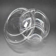 Round Disposable Plastic Divided Fruit Tray