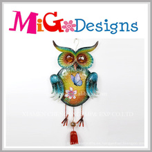 Nueva promoción Fall Havest Glitter Owl Metal Wall Decor