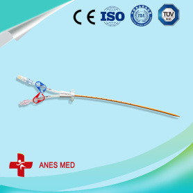 Antimicrobial hemodialysis catheter