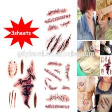 Tema de Halloween, stiker caliente, etiqueta engomada temporal de tatuajes