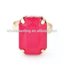 2015 Nuevo anillo personalizado de la piedra preciosa del cuadrado de la manera