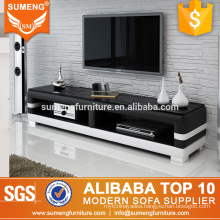 alibaba china foshan wooden PVC tv stand designs with stainless steel legs