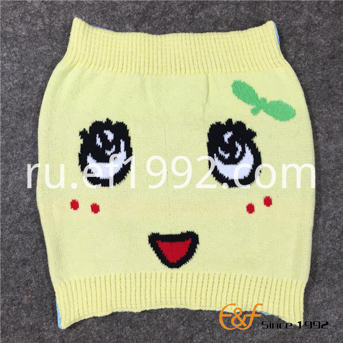 Cotton TT Yarn Knitted Jacquard Haramaki for Kids