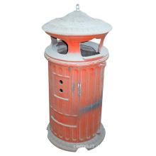 Gusseisen-Mülleimer