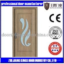Puerta de cristal de PVC de madera MDF