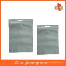 China fabricante de alimentos de grado nailon transparente bolsa de almacenamiento con cremallera transparente para dulces / azúcar / embalaje de alimentos secos