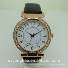 Luxury women fancy custom quartz waterproof watch crystal with lady
