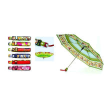 Heat-Transfer Print 3 Fold Duomatic Umbrellas (YS-3FD22083510R)