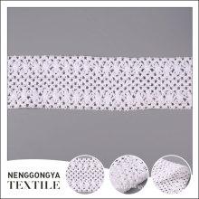 Top qualidade Diferentes tipos de vestuário de crochê rendas guarnição de algodão