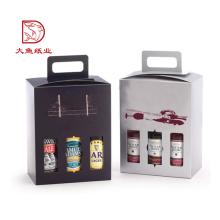 Caja de empaquetado al por mayor reciclable de las botellas de vino de 3 litros de la cartulina del color