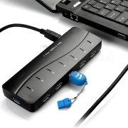 Concentrateur USB 3.0 à 7 ports plugable 25W