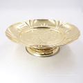 7,5 дюймов круглый золотой росписью из нержавеющей стали фрукты сервировки банкет