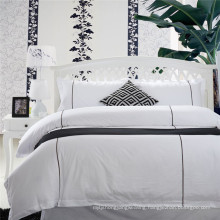 5 Star Hotel White Embroidery Bed Linen Luxury (WS-2016319)