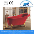Freestanding red bathtub red acrylic tubs
