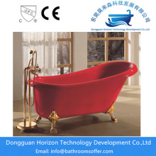 Hot sale for Antique Style Clawfoot Bathtub Freestanding red bathtub red acrylic tubs export to Italy Manufacturer