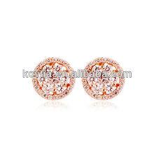 Gold zircon stud earrings aliexpress chinese jewelry women accessories earrings