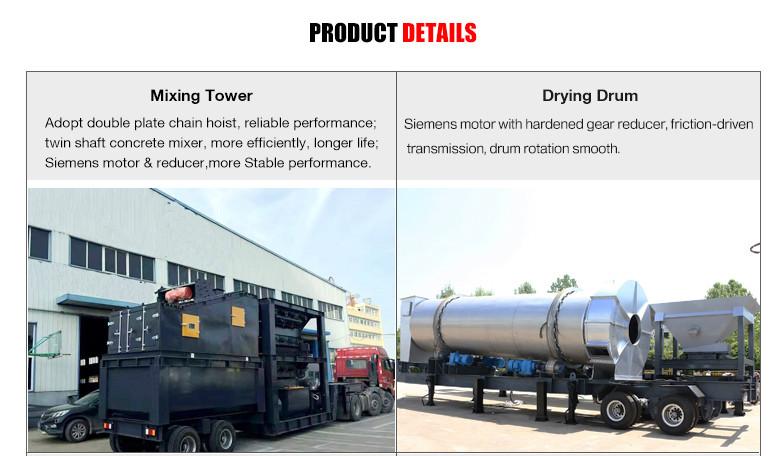 Mobile asphalt plant details 1