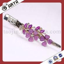 Clous de rideaux en métal pour fleurs en verre violet pour la tente de moustiquaire Valances