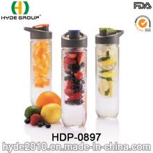 Venda quente BPA livre garrafa de água de infusão de fruta de plástico (HDP-0897)