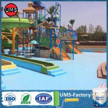 Polyurea coating spray durability for ponds