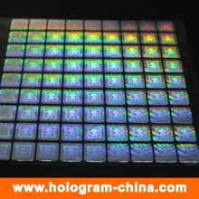 Anti-Fake Laser Hologram Sticker for Cloth