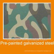 Hojas de acero galvanizado prepintado de venta caliente