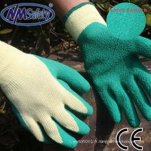 NMSAFETY 10g gants en latex avec du coton à l'intérieur