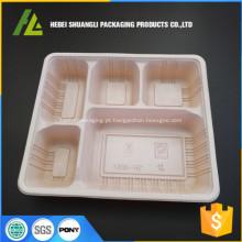 caixa descartável plástica da embalagem da parte superior para o alimento