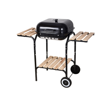 "18 ""Square Charcoal Grill med Sidoplatser"