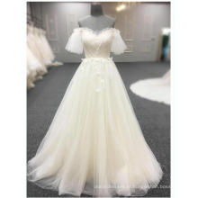 Alibaba Evening Dresses Petal manga Floral Beading Long Champagne Plus Size vestido de baile