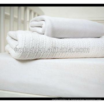 Cobertores do leno do fio do hospital OE de 100cotton