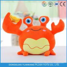 Custom Stuffed Plush Animal Crab Shaped Home Decor Pillows