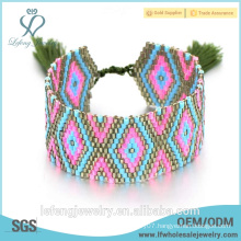 New design bohemian jewelry online colorful rope&seed beads bracelet