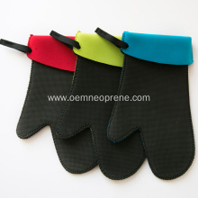 Wholesale Colorful Neoprene Oven Mitts Gloves With Strap