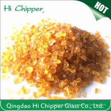 Chips de Vidro Âmbar Amassado Esmagado