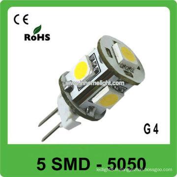 G4 12V led bateau 5 SMD 5050