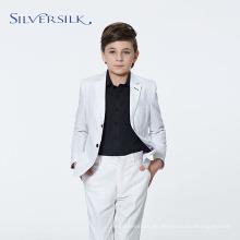Blazers de alta moda para fiestas, trajes de niño blanco para niños