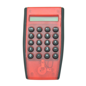 8 Digit Transparent Electronic Handhold Calculator